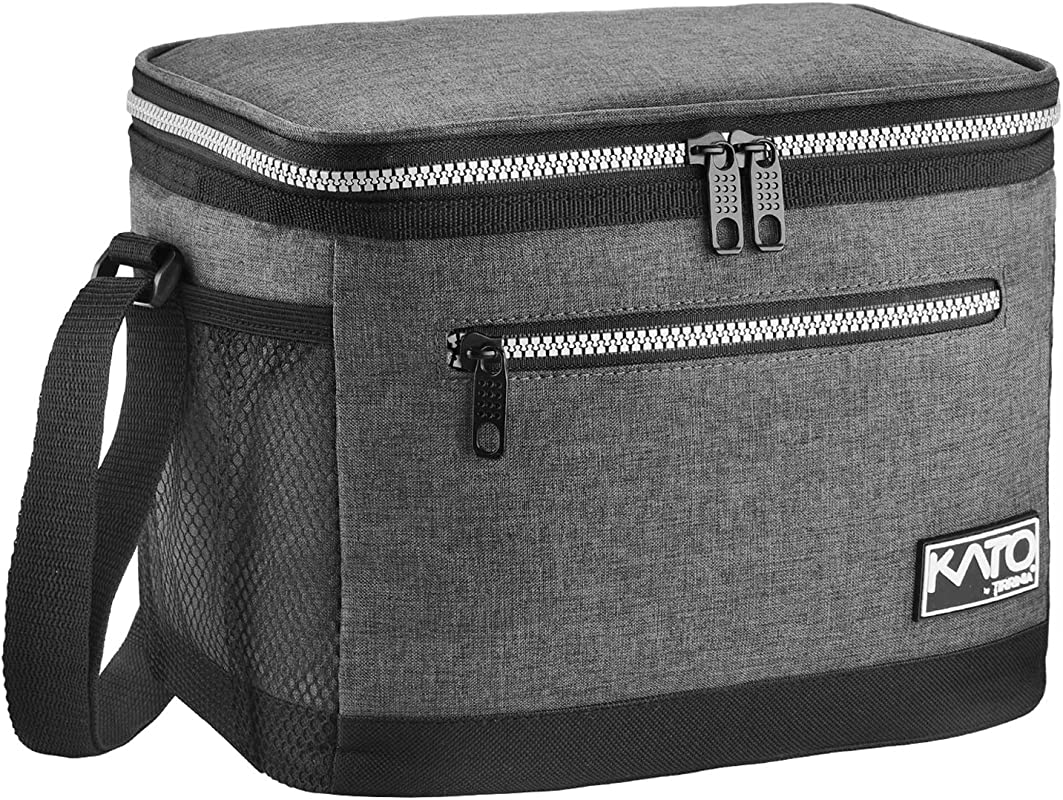 Insulated Lunch Bag For Women Men Leakproof Thermal Reusable Lunch Box For Adult Kids By Tirrinia Lunch Cooler Tote For Office Work Dark Grey