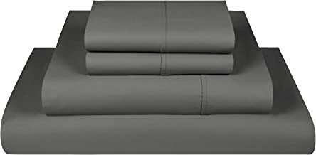 800 Thread Count 100% Extra-Long Staple Cotton Sheet Set,California King Sheets, Luxury Bedding, California King 4 Piece S...