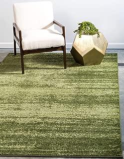 Unique Loom Del Mar Collection Contemporary Transitional Green Area Rug (5' 0 x 8' 0)