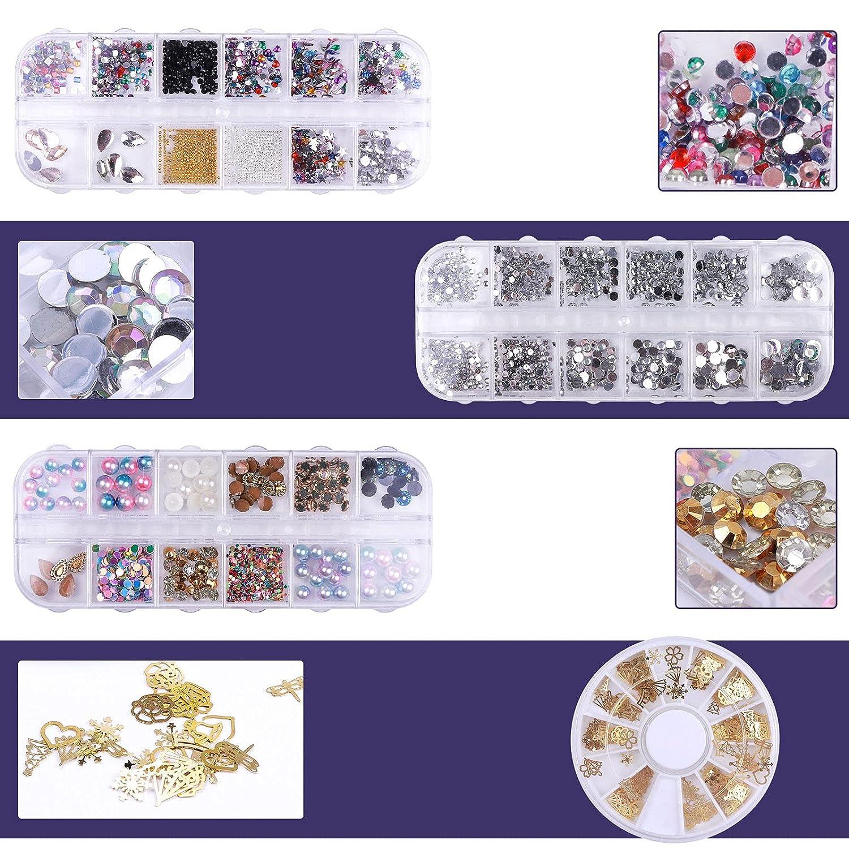 1280Pcs DIY Nail Art Tools Decoration AB Rh Finally popular brand Finally popular brand Glitter Kit Crystal