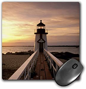 3dRose LLC 8 x 8 x 0.25 Inches Massachusetts Nantucket Brant Point Lighthouse Walter Bibikow Mouse Pad (mp_90959_1)