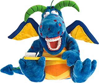StarSmilez Kids Tooth Brushing Buddy Magi Dragon - Plush Dental Education Helper Fully flossible - Present/Teach Children ...