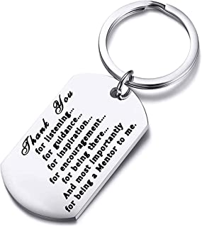 FUSTMW Mentor Gift Boss Appreciation Gift Mentor Keychain Thank You Gifts for Guidance and Inspiration Coworker Leaving Gifts