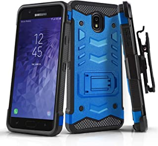Phone Case for [Samsung Galaxy J7 Crown (S767VL)], [Robust Series][Blue] Cover with [Kickstand] & [Holster] for Samsung Galaxy J7 Crown (Tracfone, Simple Mobile, Straight Talk, Total Wireless)