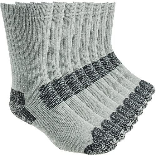 wholesale dealer 9e62b e1523 Working Person s 8766 Grey 4-Pack Steel Toe Crew Socks - Made In The USA