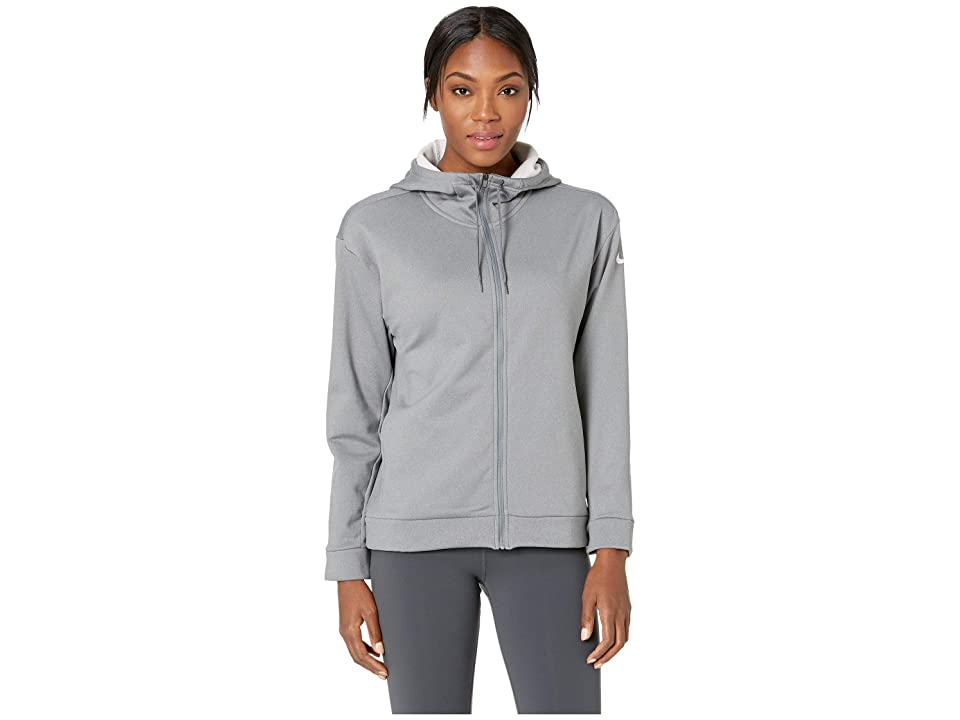 Nike Therma All Time Full Zip Hoodie (Cool Grey/Heather/White) Women