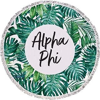 Sorority Shop Alpha Phi - Palm Leaf - Fringe Towel - Blanket