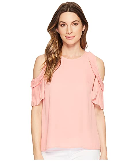 cb15ac8f1b5 CeCe Cold Shoulder Pleated Blouse at 6pm