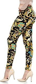   Lush Moda   Women's Extra Soft Leggings   Variety of Prints   One Size