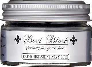 [コロンブス] 靴クリーム・簡単ハイシャイン・鏡面磨き ブートブラックシルバーライン ラピッドハイシャイン ネイビーブルー Free