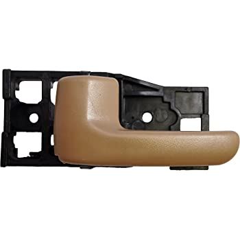 Front Right Passenger Side Inner Interior Inside Door Handle Lever Painted for 4-Door Sedan ONLY Housing with Silver Taupe PT Auto Warehouse HO-2237RB-FR Brown