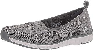 حذاء باليه مسطح رجالي من Skechers مطبوع عليه Be Cool Knit Scooped A-line