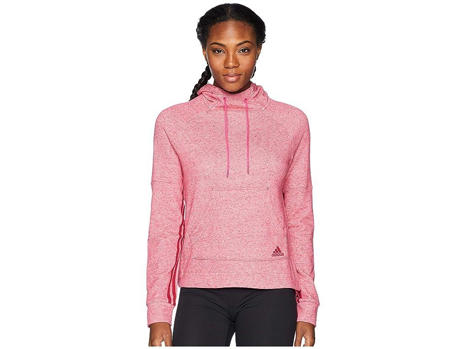 adidas Sport-2-Street Pullover Hoodie (Sport 2 Street Real Magenta Melange/Unity Pink) Women