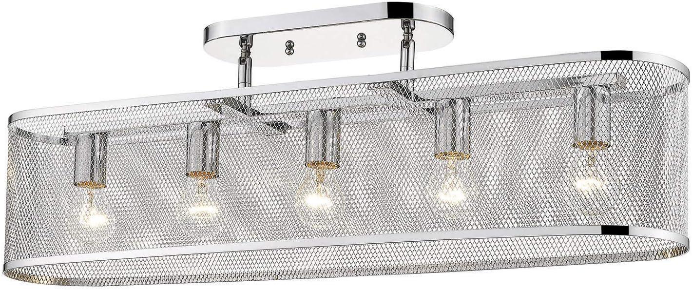 Golden Lighting 2245-5SF CH SEAL limited product shipfree Semi-Flush Chrome London