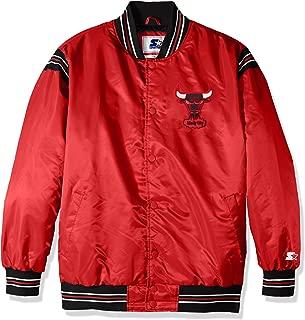 Starter Adult Men The Enforcer Retro Satin Jacket, Red, Large