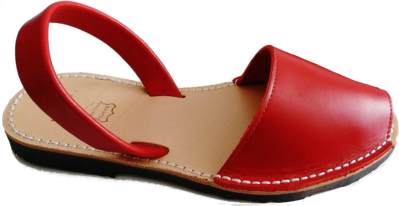 Authentic Menorcan Sandals, color red Box, Avarcas Menorquínas Abarcas, Albarcas. Red