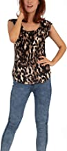 Women Round Neck Leopard Print Short Sleeve Shirt | Premium Casual Basic Top Vest