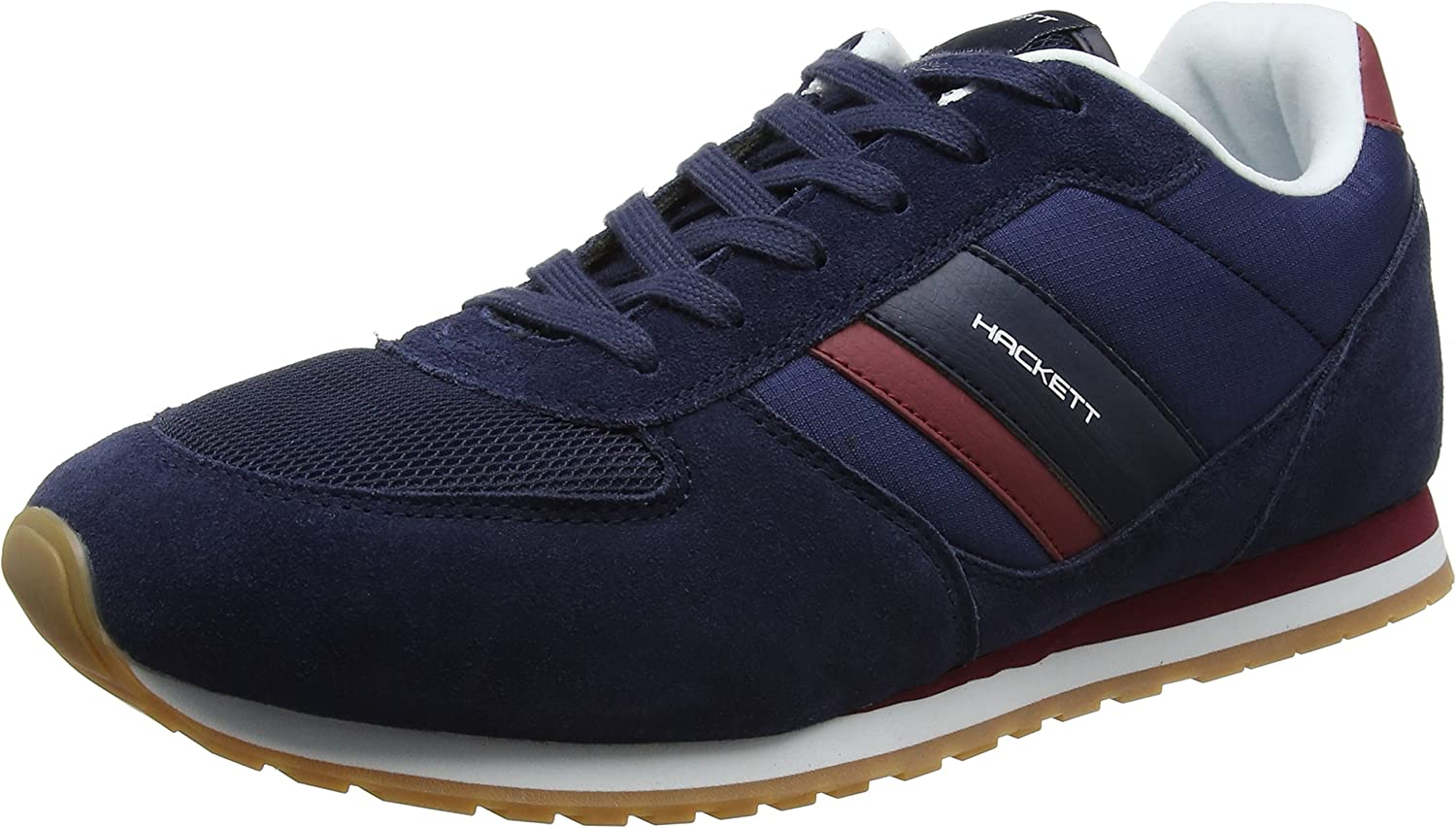 Hackett Men's Leather Fabric Sneakers shoes
