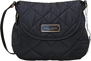 Natasha Quilted Nylon Crossbody Handbag (Black)