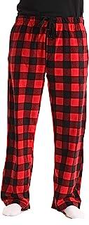 Microfleece Men's Plaid Pajama Pants with Pockets