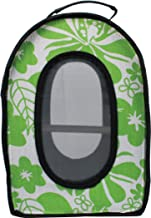 A&E Cage Company 001377 Happy Beaks Soft Sided Travel Bird Carrier Green, 14.5X10.5X7 in