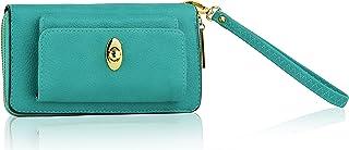 Accordion Zipper Around MKF Collection Designer Wallet Wristlet