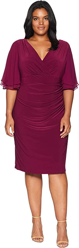 Plus Size Mildia Elbow Sleeve Day Dress