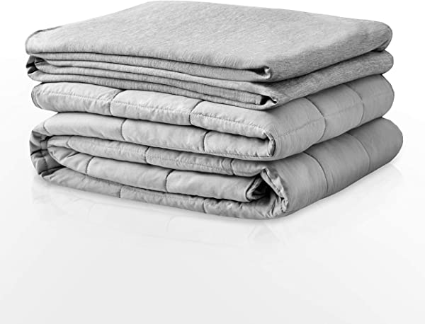 Degrees Of Comfort Advance Cooling Weighted Blanket With Inner Cotton Insert Patented Zoning Design Distributes Weight To Sides Grey Grey 23lbs 80x87