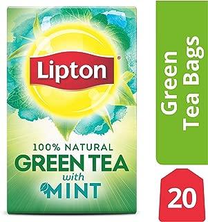 Lipton Green Tea Bags, Mint, 20 ct
