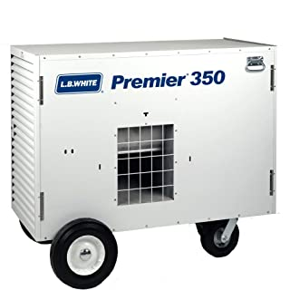 L.B. White TS350 Premier 350DF Portable Forced Air Ductable Dual Fuel Construction Heater, 350,000 Btuh