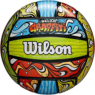 Wilson Graffiti Volleyball - Green/Orange/Blue (WTH40119ID)