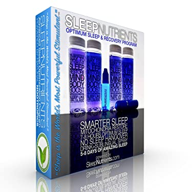 SleepNutrients 4 -Drinks/8-Doses + 40-Sublingual Spray Doses. Get The Deepest, Most Restorative Sleep of Your Life. Celastrus, California Poppy Seed, L-Theanine, Tryptophan, Melatonin, Wild Lettuce,