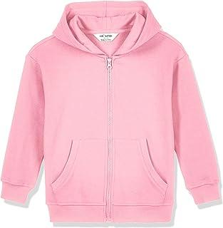 Kid Nation Kids' Soft Basic Fleece Full Zip Hooded Sweatshirt for Boys and Girls
