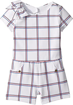 Short Sleeve Open Back Romper (Toddler/Little Kids/Big Kids)