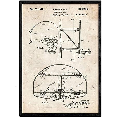 Nacnic Vintage - Pack de 4 Láminas con Patentes de Escalada ...