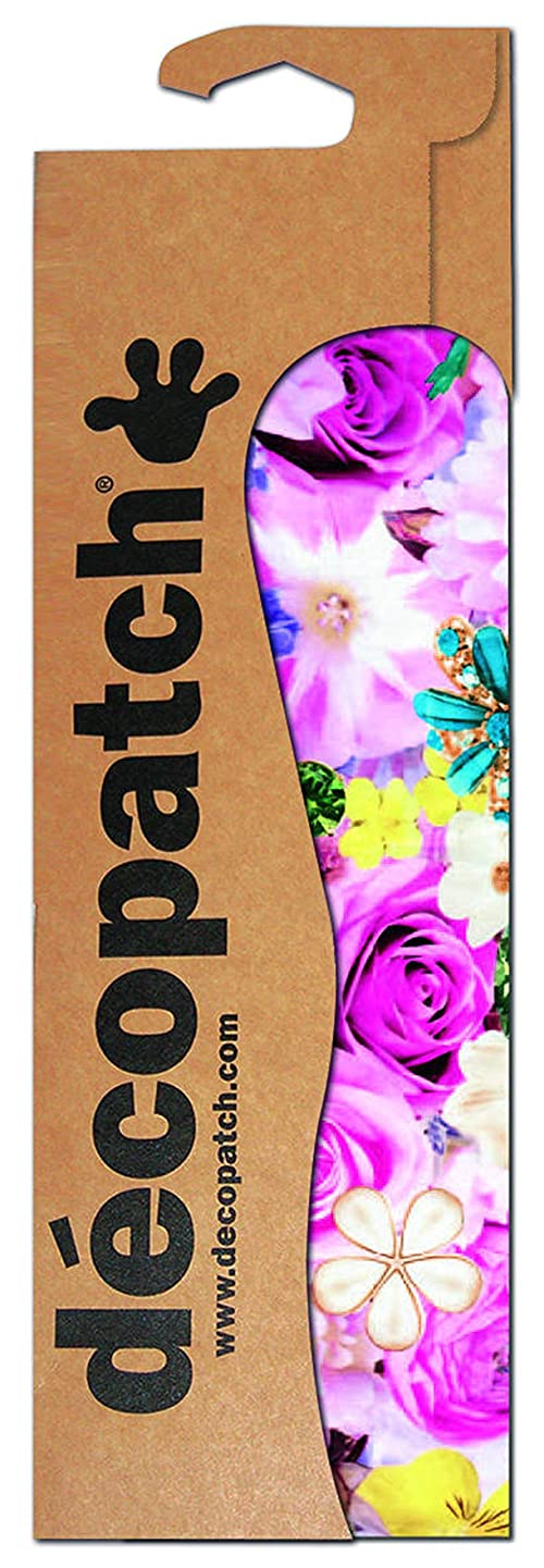 décopatch Floral Paper, Assorted Colours, 30 x 40 cm, Pack of 3 Sheets