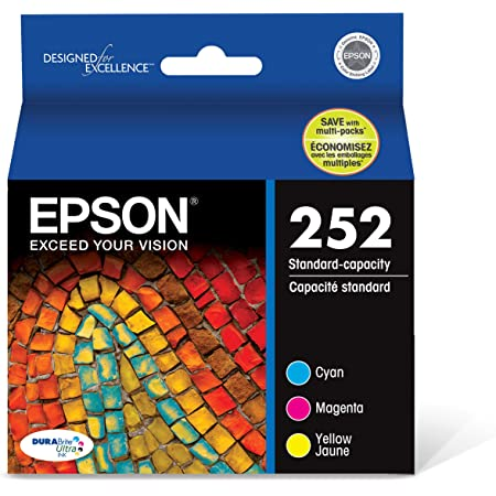 EPSON T252 DURABrite Ultra Ink Standard Capacity Color Combo Pack (T252520-S) for select Epson WorkForce Printers