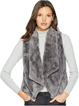 Big Softy Soft Faux Fur Drape Front Vest