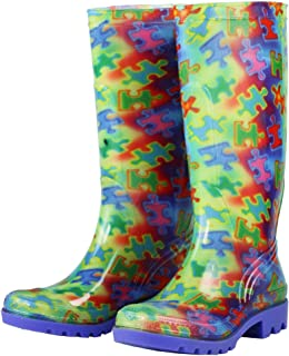 GreaterGood Free Spirit Piece of The Puzzle Ultralite Rain Boots