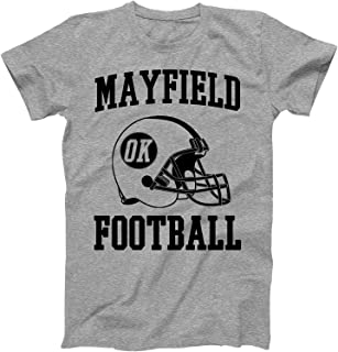 Vintage Football City Mayfield Shirt for State Oklahoma with OK on Retro Helmet Style