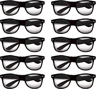 Sunglasses - 10 pack - Plastic Tahiti Glasses - Classic Style Sunglass - Black