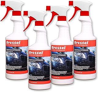 Brestol Insektenentferner 4X 750 ml gebrauchsfertig   Insektenlöser Polycarbonat geeigneter Insektenreiniger Vogelkotentferner Spezialreiniger alkalisch
