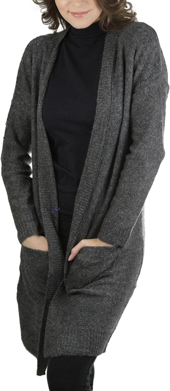 ToBeInStyle Women's Long Sleeve Long Cardigan