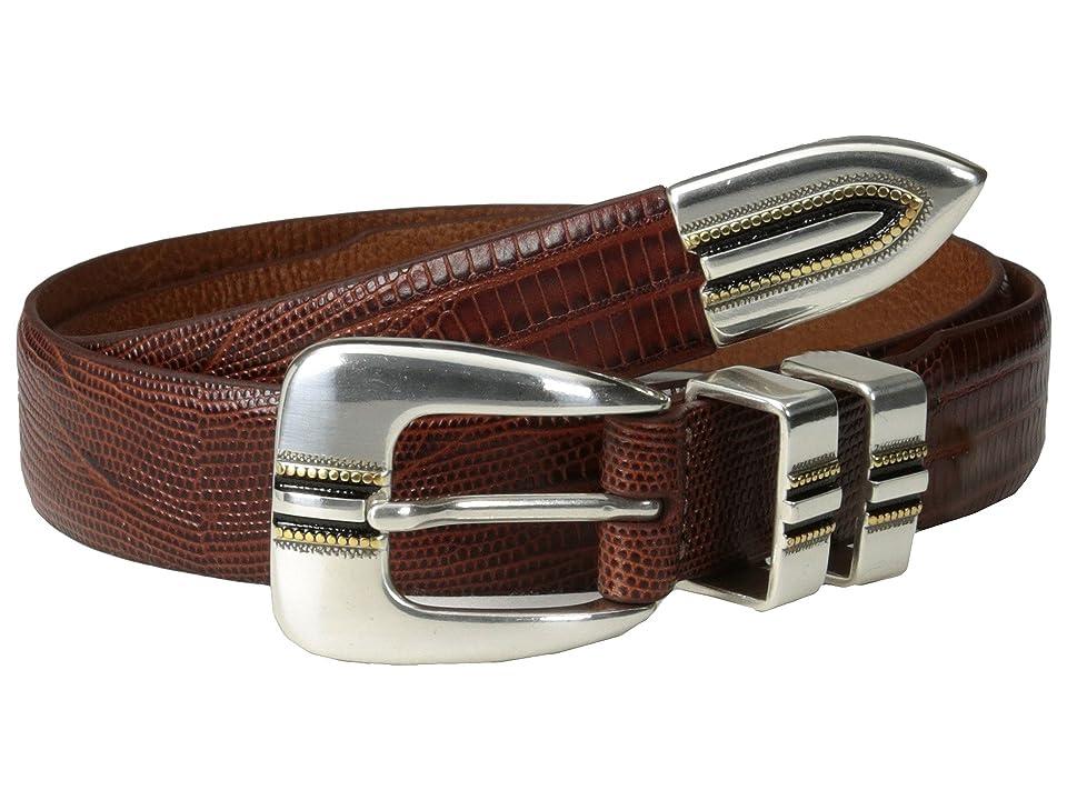 Johnston & Murphy Lizard-Grain Ranger Belt (Cognac) Men