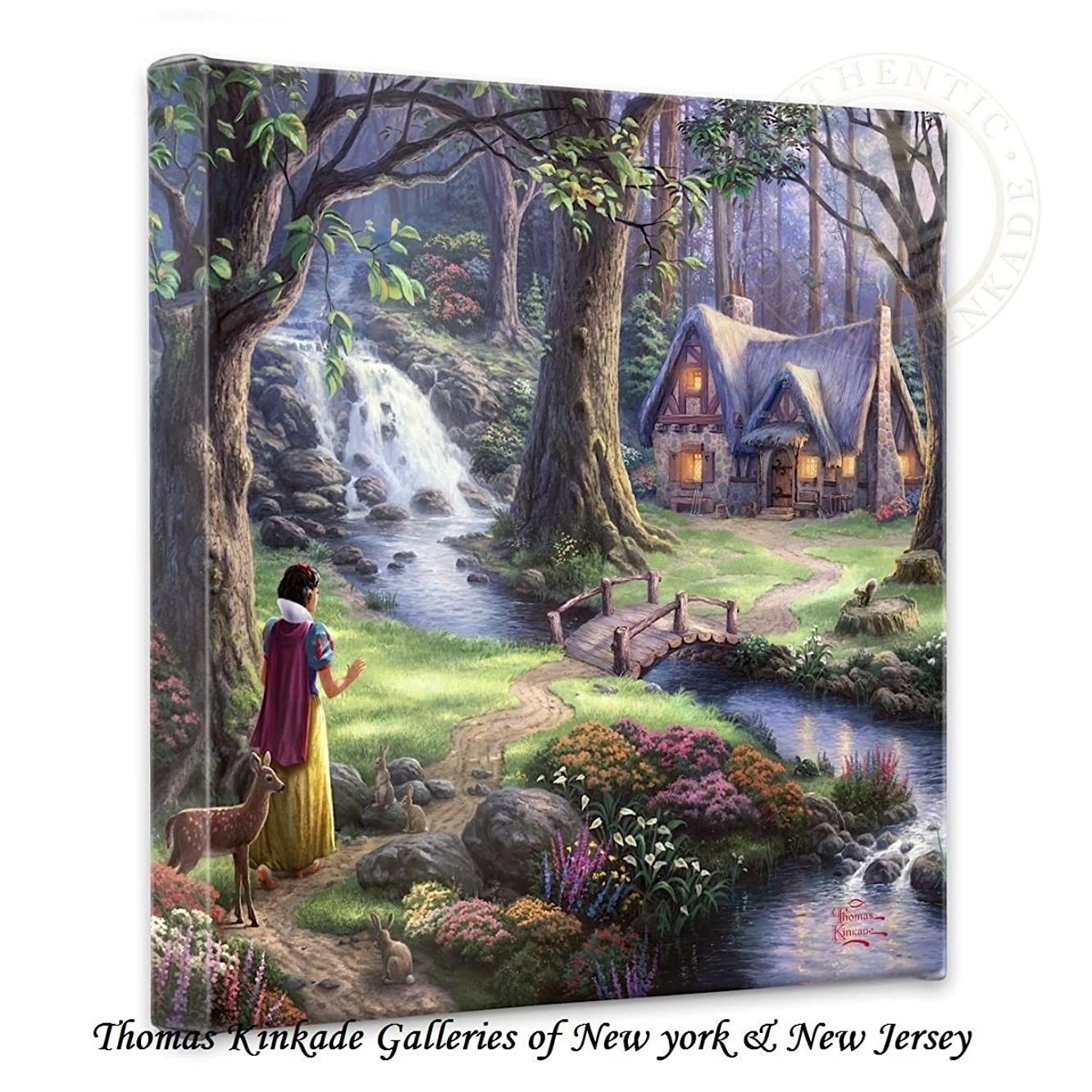 Thomas Kinkade Snow White Discovers Gallery Wrap Canvas