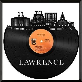 VinylShopUS - Lawrence Kansas Vinyl Wall Art with Framed City Skyline Best Gift Office and Bedroom   Home Decoration