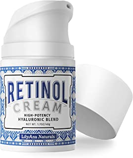 LilyAna Naturals Retinol Cream for Face - Retinol Cream, Anti Aging Cream, Retinol Moisturizer for Face, Wrinkle Cream for Face, Retinol Complex - 1.7oz