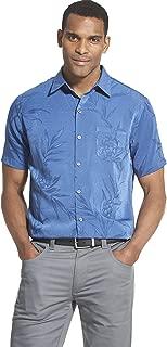 Men's Air Tropical Short Sleeve Button Down Poly Rayon Shirt