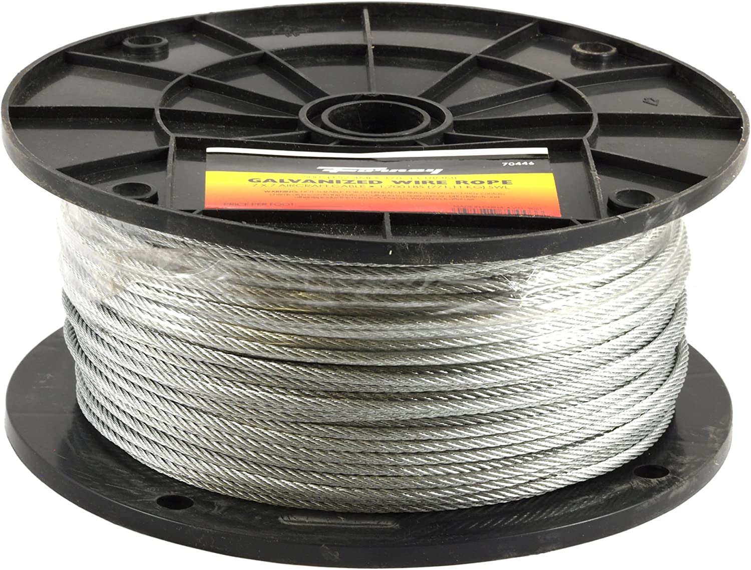 OFFicial NEW site Forney 70446 Wire Rope Aircraft Cable Galvanized 500-Feet-by-1