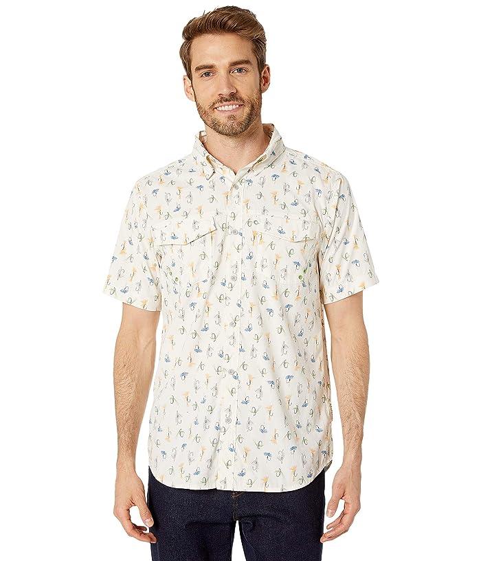 ExOfficio Estacado Short Sleeve Shirt (Vellum Fly) Men